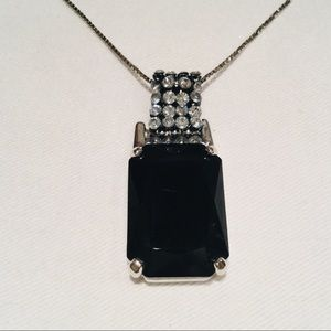 Swarovski Black Crystal Pendant Necklace